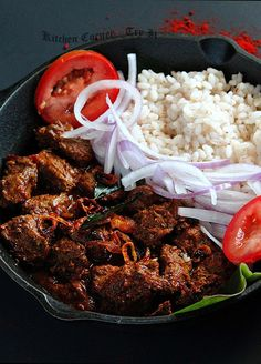 Stove Top Recipes, Side Recipes, Meat Recipes, Cooking Recipes, Curry Side Dishes, Indian Beef Recipes, Vindaloo, Beef Curry, How To Cook Beef