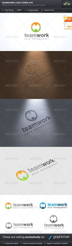 Buy Teamwork Logo Template by saptarang on GraphicRiver. Item Specifications: Logo with Vector Abilities Easy color modifications Resizable . Corporate Flyer, Corporate Design, Corporate Identity, Brand Identity, Logo Design Template, Logo Templates, Teamwork Logo, Family Logo, Postcard Template