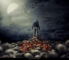 Skulls Of Hell by Welison Alexandre - Photoshop Creative