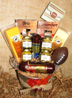 Tailgate gift basket by PelicanCoveGifts on Etsy, $45.00