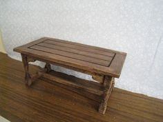 Table, country style, twelfth scale dollhouse piece