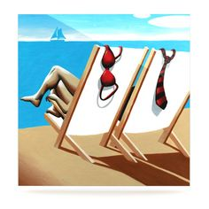 """Thomas Fuchs """"Vacation"""" Beach Luxe Square Panel from KESS InHouse"""