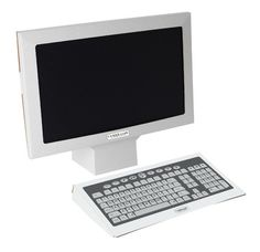 """Computer Screens & Keyboards - Create a high-tech spy agency with these props, crafted from high quality, sturdy cardboard. Includes screens (15"""" x 19"""" x 4"""") and keyboards (14 """" x 7 """" x 1""""). Package of 4 sets. #VBS14 #VBSSPY"""