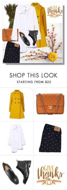 """""""Give thanks!"""" by annazonno ❤ liked on Polyvore featuring Orla Kiely, Chanel, Monse, Abercrombie & Fitch and Cricut"""