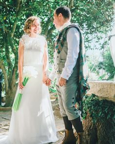 We are in love with this wedding  Link in bio. Oh and the amazing groom's suit by @giorodriguesoficial and @kiltsociety