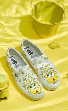 Vans Is Dropping a SpongeBob Sneaker Collection Because Childhood Dreams DO Come True White Fila Sneakers Outfit Childhood collection Dreams Dropping sneaker SpongeBob TRUE Vans Vans Sneakers, Vans Slip On Shoes, Custom Vans Shoes, Custom Painted Shoes, Custom Sneakers, Painted Vans, Me Too Shoes, Disney Painted Shoes, Golf Shoes