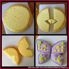 Dollar Store Crafter: How to Make A Butterfly Cake