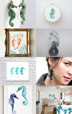 Seahorses by Katrin on Etsy--Pinned with TreasuryPin.com