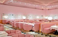 pink velvet dining