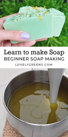 How to make Natural Soap with Lovely Greens -- soap making instructions, recipes. - How to make Natural Soap with Lovely Greens -- soap making instructions, recipes. How to make Natural Soap with Lovely Greens -- soap making instruc. Soap Making Recipes, Homemade Soap Recipes, Cold Press Soap Recipes, Castile Soap Recipes, Beeswax Recipes, Homemade Soap Bars, Homemade Bath Bombs, Homemade Gifts, Soap Making Process