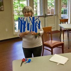 This week we use tape to expose negative space in our weekly art program at Thornebridge Gardens Retirement Residence in New Westminster 😊 #vervecares #community #art #goodtimes
