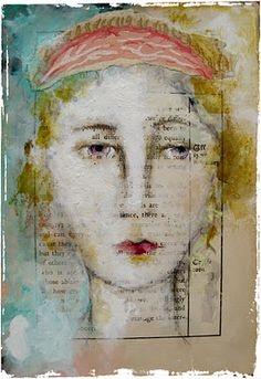 layers of color adding loads of interest to try. Artist Lynn Hoppe...lovely little mixed media pieces! Nice