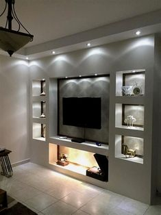 Room Shelves Lights - The Beauty and Comfort Of The Ideal Living Room Living Room Shelves Lights - The Beauty and Comfort Of The Ideal Living Room.Living Room Shelves Lights - The Beauty and Comfort Of The Ideal Living Room. Living Room Tv Unit, Living Room Shelves, Home Living Room, Living Room Designs, Living Room Decor, Tv Wall Ideas Living Room, Living Room Ideas With Fireplace And Tv, Living Room Spotlights, Feature Wall Living Room