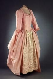 """A Dress in a Day"" A Glimpse into the Creation of a True Reproduction Gown. Pink(originally  lavender) lustring silk robe a l'anglaise retroussee late 1770s or early 1780s. gown featured in ""Costume Close-up"".... Colonial  Williamsburg. podcast links: https://podfanatic.com/podcast/colonial-williamsburg-video/episode/dress-in-a-day-1 https://podfanatic.com/podcast/colonial-williamsburg-video/episode/dress-in-a-day-part-two-1"