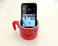 Put your phone in a cup for instant speakers.