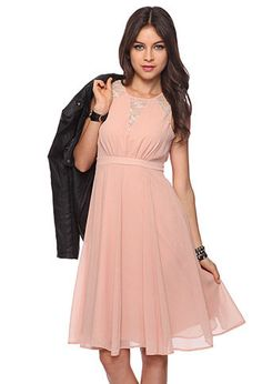 Blush chiffon dress at Forever21