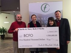 O'Reilly family donates $500,000 'challenge' grant to BCFO. Wonderful news!