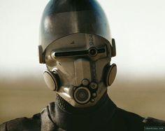 Cyberpunk helmet.