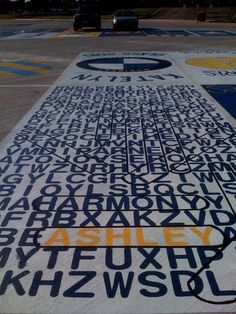 painting parking spaces seniors | McKinney High School students artfully claim their parking spots