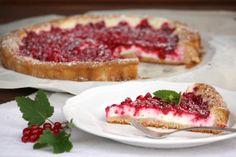 Ríbezľový koláč s tvarohom - recept.     Recept s fotopostupom na ozaj vynikajúci ríbezľový koláčik. Ríbezle je možné zameniť aj za iné drobné ovocie - maliny, černice, čučoriedky ... aj slivky