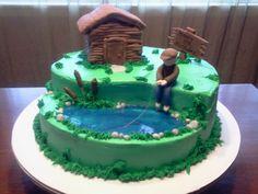 Fisherman+Birthday+Cakes | Edee's Custom Cakes: 80th fisherman birthday