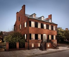 Isaiah Davenport House in Savannah, GA: The 1820 Federal-style house on Columbia Square is widely considered to be one of the nation's finest examples of Georgian architecture.