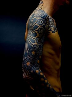 Love the intense blue instead of black, and great use of shape and texture!