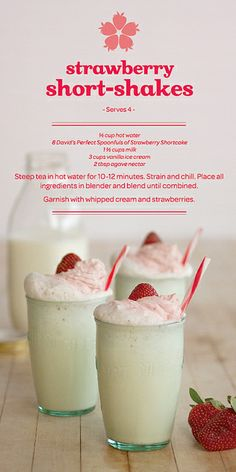 Strawberry Short-Shakes - Fun and SUPER Delicious! This won't disappoint anyone this summer!