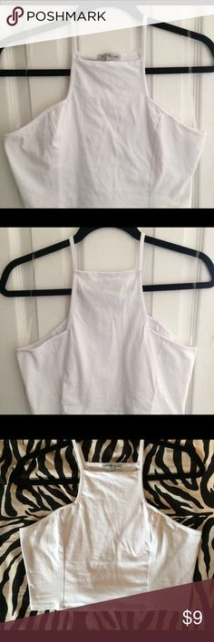 White Square Neck Crop New without tags ! In great condition. Charlotte Russe Tops Crop Tops