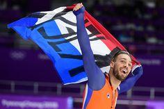 #OS2018 GOUD 1000 mtr mannen Kjeld Nuis is vr 23 febr voor de tweede keer olympisch kampioen geworden op de Winterspelen. De 28-jarige schaatser uit Zoeterwoude zegevierde vrijdag op de 1000 meter in een baanrecord van 1.07,95.