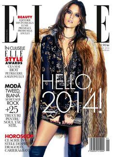 cool Elle Magazine Romania January 2014 | Kim Cloutier [Cover]