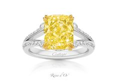 'Reine d'Or' -- the Golden Queen. 4.11cts of pure magnificence. www.calleija.com/fancy-coloured-diamond-collection-rings/~r1866-reine-dor