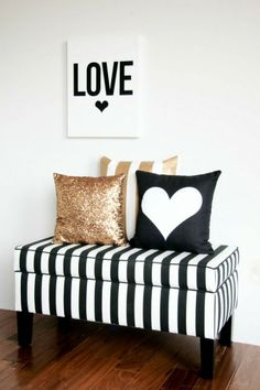 Black and White Stripes with Gold, LOVE!