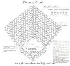 poncho de croche com grafico