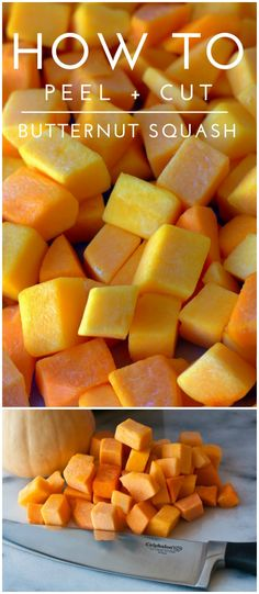 A tutorial on How to Peel and Cut Butternut Squash the safe way! Plus a GIVEAWAY! #KnifeSkills [ad]