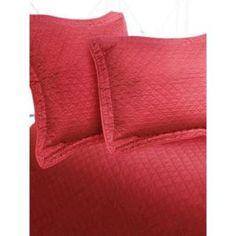 Lujo satén de algodón Diamond Coverlet Tamaño: Doble, Color: Cranberry $ 60.99 por Wayfair