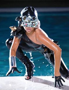 Lady Gaga theme night out.  Poker face video.  I love her mask!