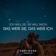 Ich will sie, sie will mich das weiß sie, das weiß ich – Fettes Brot Visual Statements®️ I want her, she wants me she knows, I know – Fat Bread Sayings / Quotes / Quotes / Verse / Music / Band / Artist / Profound / Thinking / Life / Attitude / Motivation More Than Words, Some Words, Song Quotes, Life Quotes, Word Symbols, Beautiful Verses, The L Word, Love Others, Visual Statements