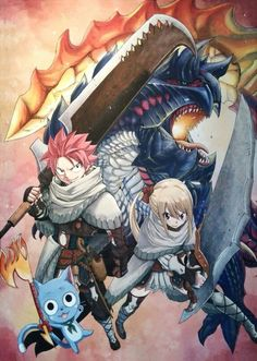 Natsu,Lucy and Happy Fairy tail