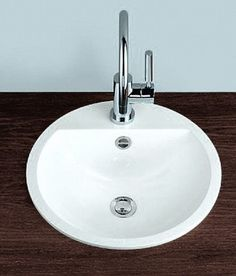 Alape Fb serie opbouw wastafel 80x42cm, zonder overloop zonder kraangat, wit - 2224000000 - Keuken Sanitair Plaza