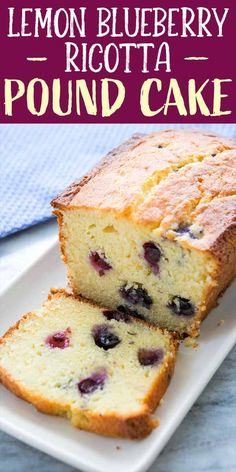 Blueberries and lemon? Ricotta cheese in a pound cake? Yes, please! Sweet and lemony, with a delicate crumb, this cake tastes like summer. Blueberry Cake, Blueberry Recipes, Ricotta Pound Cake, Ricotta Pancakes, Pound Cake Recipes, Pound Cakes, Loaf Cake, Simply Recipes, Savoury Cake
