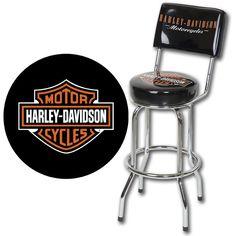 Harley-Davidson® - Bar & Shield Bar Stool With Backrest HDL-12204