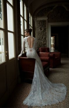 Lovely back detail. I love the combination of sexy and modesty.