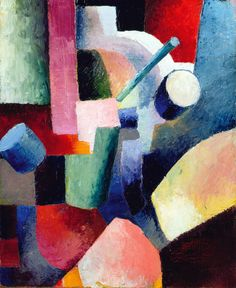kafkasapartment: Colored Composition of Forms, 1914. August Macke. Oil on canvas