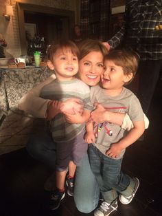 Kate Beckett and her twins - Reece and Jake