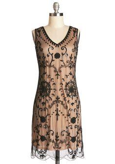Bead It Dress in Chamoisee