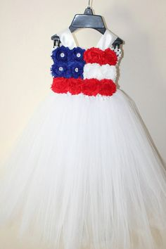 Patriotic 4th of july tutu dress and by LittledreamsbyMayra