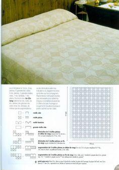 Bedspread with diagram