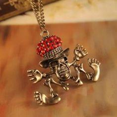 Discount China wholesale Design Retro Fashion Personality Skeleton Pendant Necklace [10079] - US$1.99 : Mygoodsbox