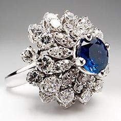 Vintage Cluster cocktail ring, 1950's